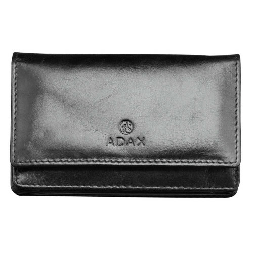 Adax SALERNO FLAT PURSE, 130669 in de kleur black