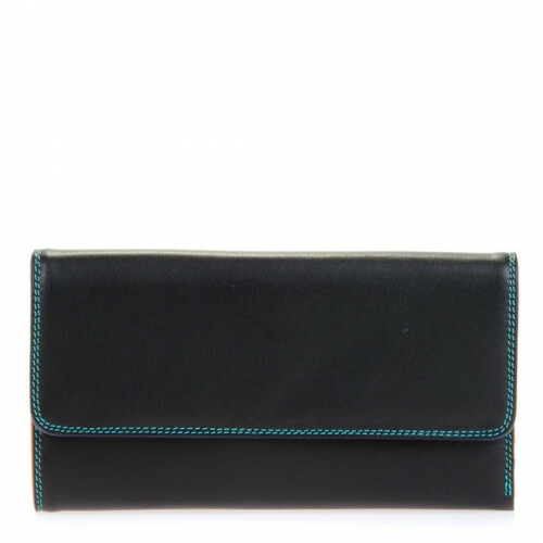 Mywalit SOFT TRI-FOLD ZIP PURSE L, 269 in de kleur 4 black pace 5051655016989