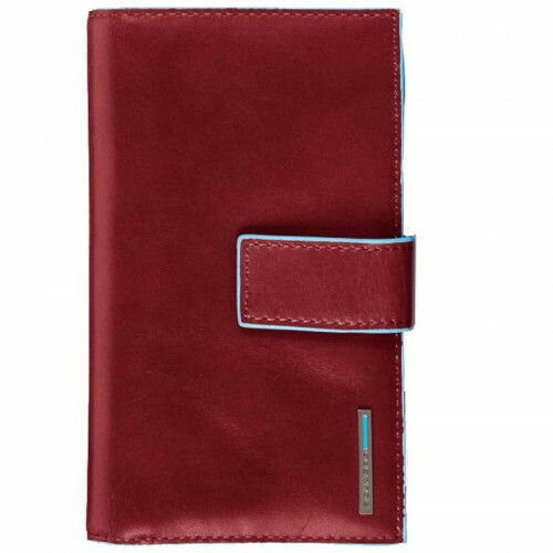 Piquadro BLUE SQUARE LADIES WALLET FLAP, PD1353B2 in de kleur R rosso 8024671050616